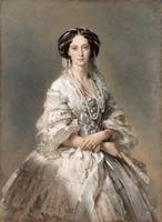 Franz Xaver Winterhalter~Portrait of Empress Maria