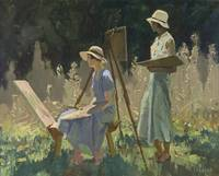 Fred Leist (1878-1945)~The art students