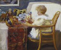 Frederick William Mac Monnies~Baby Berthe in a Hig