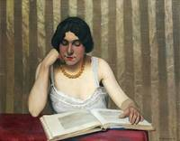 Félix Vallotton~Reader with a Yellow Necklace