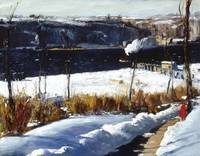George Wesley Bellows~Winter Afternoon, Riverside