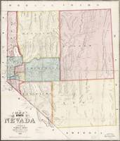 Grafton Tyler Brown~Map of the State of Nevada