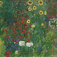 Gustav Klimt~Farm Garden with Flowers (Brewery Gar