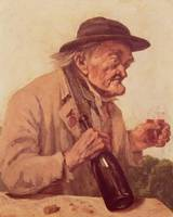 Gustave Courbet~Old Man with a glass of wine