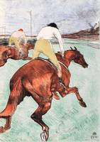 Henri de Toulouse-Lautrec~The Jockey (Le Jockey)