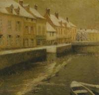 Henri Le Sidaner~Canal in Bruges, winter