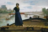Henry Bacon~Lady in a Boat