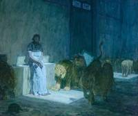 Henry Ossawa Tanner~Daniel in the Lions' Den