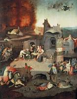 Hieronymus Bosch~Temptation of Saint Anthony