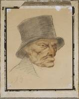 Honoré Daumier~Head of an Old Man