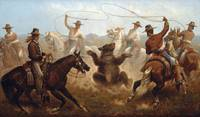 James Walker~Cowboys Roping a Bear