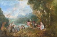 Jean-Antoine Watteau~The Embarkation for Cythera