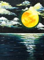 Full moon seascape