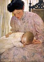 Jessie Willcox Smith~A Mother Soothing a Young Bab