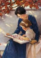 Jessie Willcox Smith~Mother Helps With The ABC's