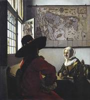 Johannes Vermeer~Officer and a Laughing Girl