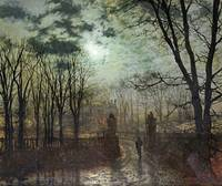 John Atkinson Grimshaw~At The Park Gate