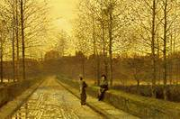 John Atkinson Grimshaw~In the Golden Gloaming