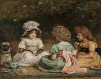 John Everett Millais~Afternoon Tea (The Gossips)