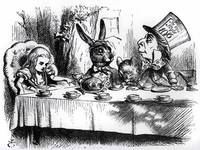 John Tenniel~The Mad Hatter's Tea Party, illustrat