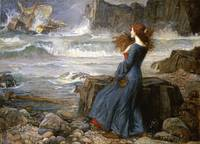 John William Waterhouse~Miranda - The Tempest