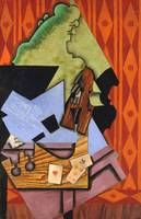 Juan Gris~Violin and Playing Cards on a Table