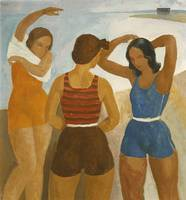 Karoly Patko~Three Bathers at Lake Balaton