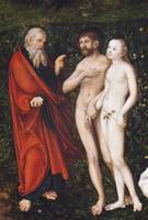 Lucas Cranach the Elder~Detail of Adam and Eve in