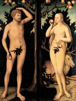Lucas Cranach the Younger~Adam and Eve in the Gard