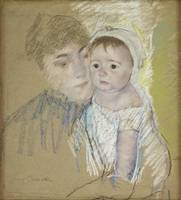 Mary Cassatt~Baby Bill in His Cap and Shift, Held