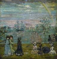 Maurice Brazil Prendergast~Promenade with Parasols