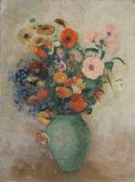 Odilon Redon~Bouquet of Flowers in a Green Vase