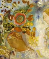 Odilon Redon~Two Young Girls among Flowers, 1912