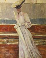 Paul César Helleu~Madame Helleu on the Yacht Etoil