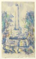 Paul Cézanne~Fountain, Place de la Mairie in Aix-e