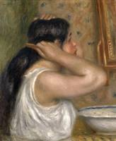 Pierre-Auguste Renoir~The Toilette, Woman Combing