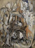 Robert Delaunay~Eiffel Tower with Trees (Tour Eiff