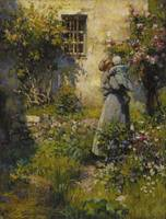 Robert William Vonnoh~Jardin de paysanne (Peasant