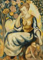 Roger Fry~Lady with a Monkey
