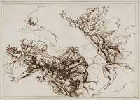 Salvator Rosa~Studies for the Death of Empedokles