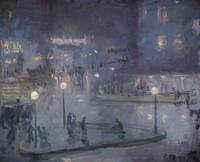 Theodore Earl Butler~Place de Rome at Night