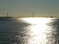Sunshine on the Mackinac Bridge, Michigan