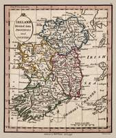 Ireland Counties and Provinces map 1798