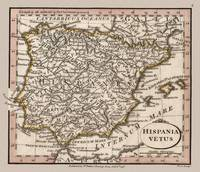 Iberian Penninsula Antique Map 1798