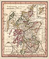 Scotland Antique Map 1798