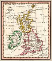 British Isles or Great Britain Map 1798