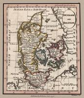 Denmark Old British Map 1798