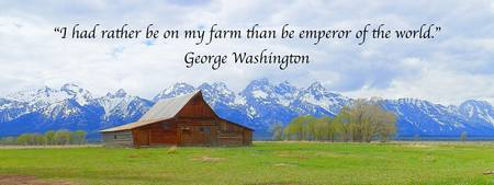 George Washington Quotes Art Print, Grand Teton