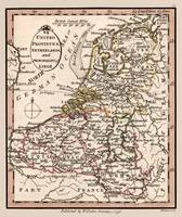 Netherlands Circa 1798 Old Map