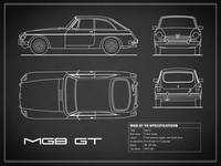 The MGB GT V8 Blueprint in Black